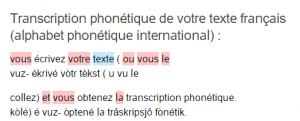 prononciation des lettres en francais convertisseur phonétique français en ligne.