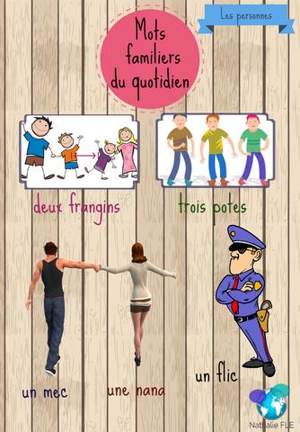 Mots familiers du quotidien français