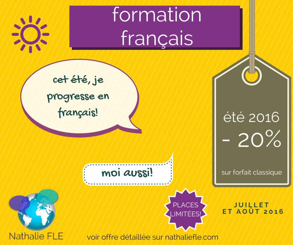 offre spéciale formation français