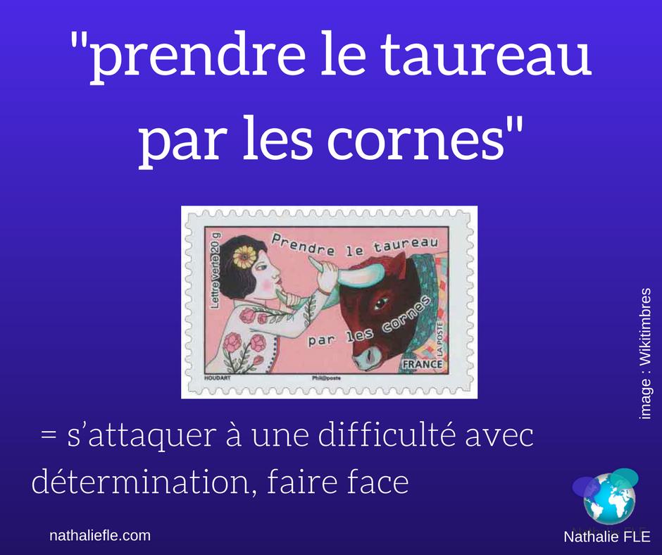 trouver du temps pour apprendre le français. Prendre le taureau par les cornes