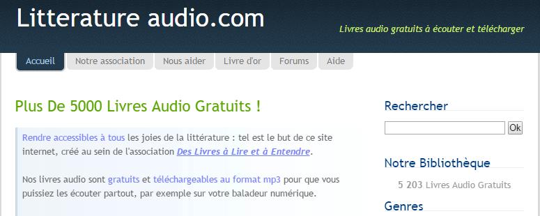 écouter du français litterature audio lecteurs de livres