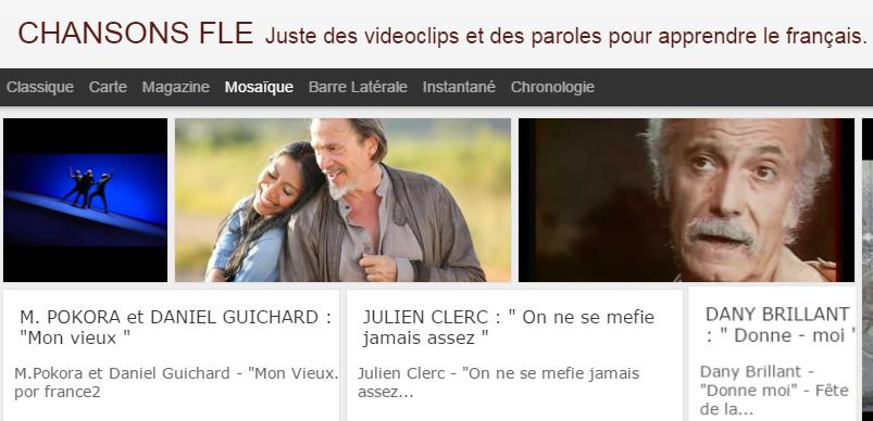 site pour apprendre le français en chansons