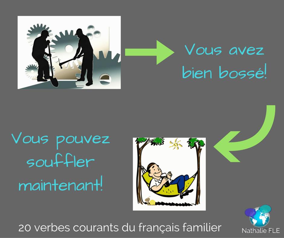 verbes courants du français familier