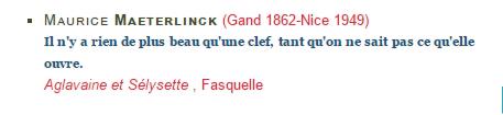 Dictionnaire de français citation clef