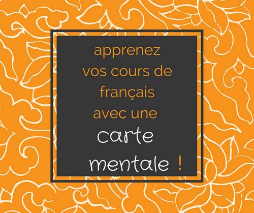 apprendre cours de français avec carte mentale