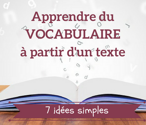 apprendre vocabulaire