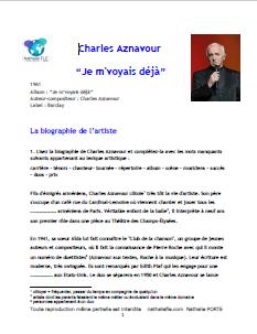 apprendre français chansons Aznavour