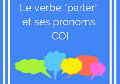 les pronoms COI avec le verbe parler