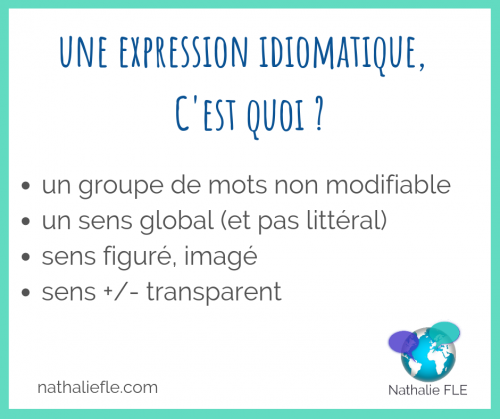 expressions idiomatiques