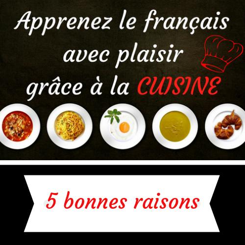 apprendre le français avec la cuisine