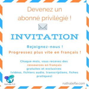 Invitation infolettre Nathalie FLE