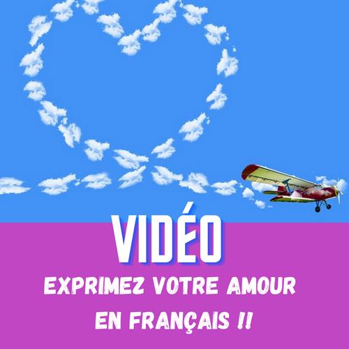 déclaration d'amour en français