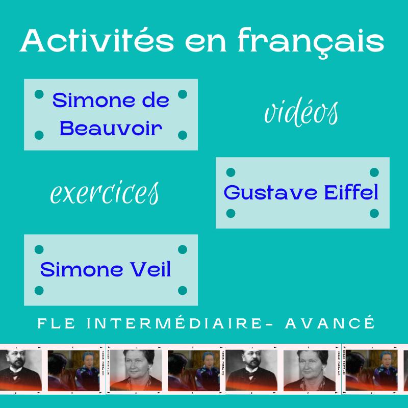 exercices personnalités françaises pack 5