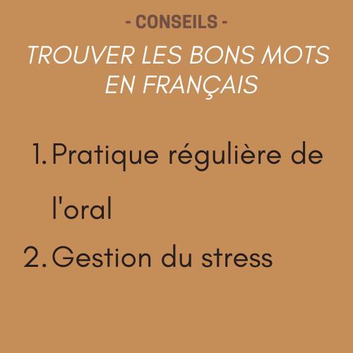 trouvez les bons mots en francais 2 conseils