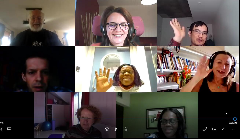 réunion en direct par Zoom en petit groupe